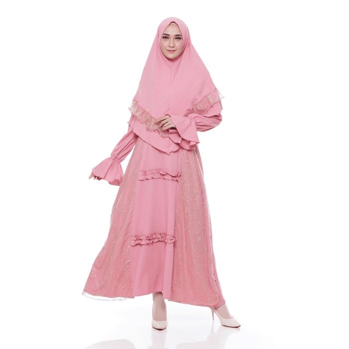 Setelan Muslim Baju Gamis Syari Khimar Nurul Shop