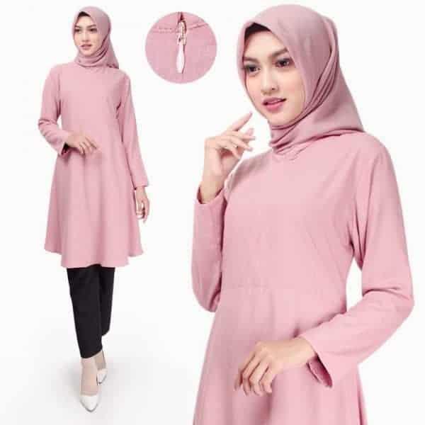 Atasan Muslim Wanita Fladea Tunik Blouse Katun Original