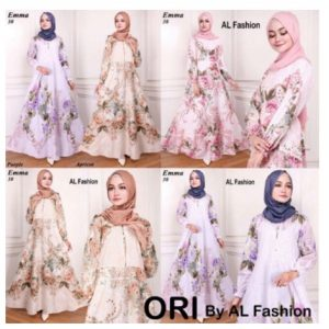 maxi emma 30 al fashion gamis long dress ori maxi aja
