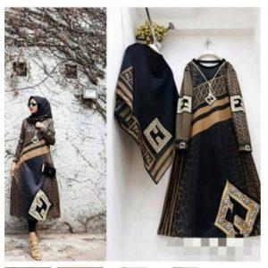 tunik hijab bahan scuba tunik modern terbaru masakini