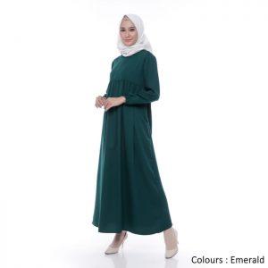Gamis Wanita Bonanza Dress Muslim Polos Ori
