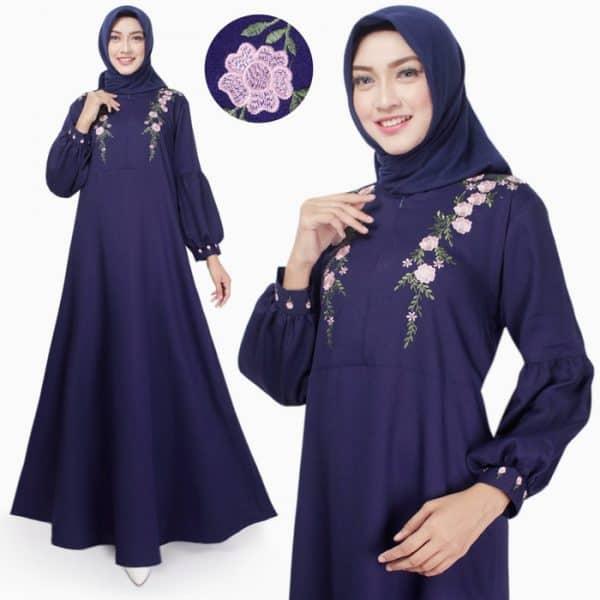 Gamis Wanita Original Syafni Maxi Bordir Dress Muslim Busu