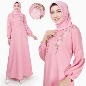 bordir dress muslim modern terbaru harga murah