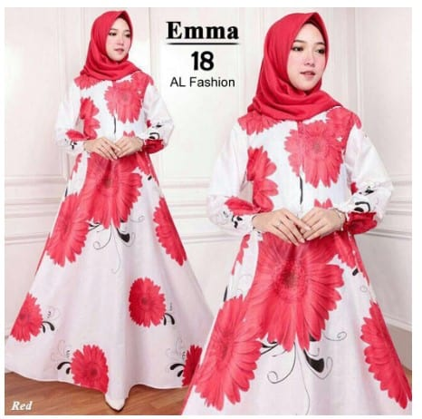 maxi emma 18 al fashion gamis long dress ori (maxi aja)