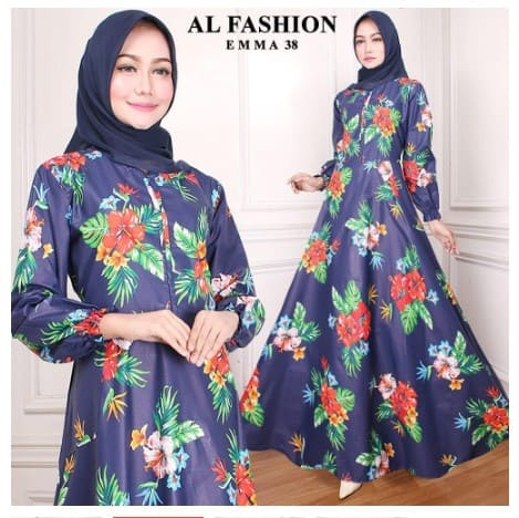 maxi emma 38 al fashion gamis long dress ori (maxi aja)
